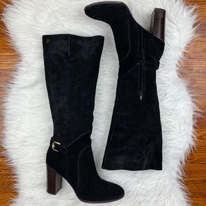 Sam Edelman   Lucy Suede Leather Heeled Boots
